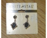 1 silver tone white stag earrings thumb155 crop