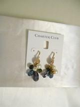 Charter Club Gold-Tone Kiska Pearl, Flower Coin & Bead Dangle Drop Earri... - $14.39