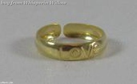 "14 Karat Gold Plated ""LOVE"" Toe Ring - $13.99"