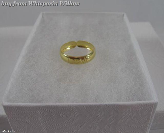 "14 Karat Gold Plated ""LOVE"" Toe Ring"