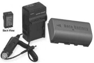 TWO 2 Batteries + Charger for JVC GZ-MG630SUC GZ-MG630SUS GZ-MG645B GZ-MG645BEK