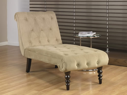 avenue six coffee fabric tufted top curved leg chaise lounge