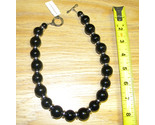 2 big bold black beads w silver spacers toggle closure from steph and co thumb155 crop