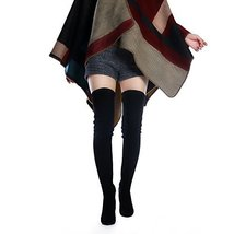 Shoe'N Tale Women Stretch Suede Chunky Heel Thigh High Over The Knee Boots 8.5,  image 4