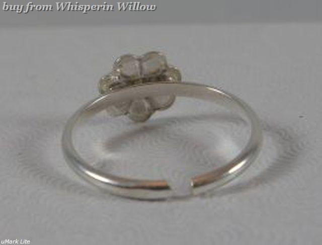 Multi Color Enamel Flower Sterling Silver Toe Ring