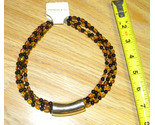 2 amber and black beads multi strand w silver accent steph and co thumb155 crop