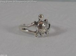 Oxidized Sterling Silver Turtle Toe Ring - $14.99