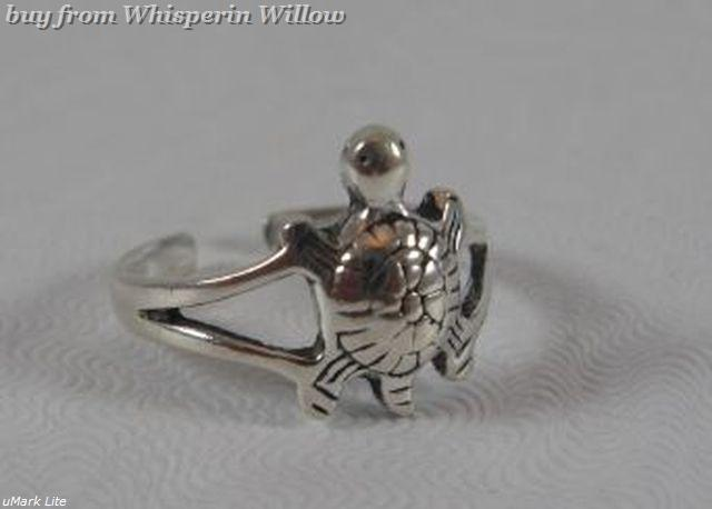 Oxidized Sterling Silver Turtle Toe Ring