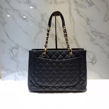 BRAND NEW AUTH CHANEL QUILTED CAVIAR GST GRAND SHOPPING TOTE BAG GHW RECEIPT image 5