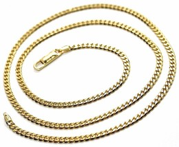 Chain Yellow Gold 750 18K, 50 CM, Groumette Flat, Thickness 2.8 MM, Full - $1,601.12
