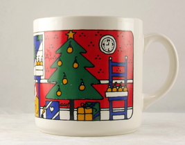 Vintage Christmas coffee mug FPC England colorf... - $8.00