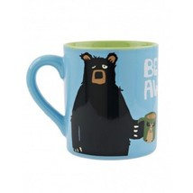 Hatley Funny Ceramic Coffee Mug BEARLY AWAKE 14 oz. Black Bear - £14.26 GBP