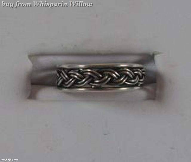 Oxidized Sterling Silver Braided Toe Ring