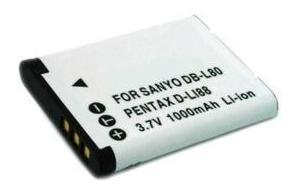 Battery for Sanyo Xacti DB-L80A, DB-L80AU, DB-L80U