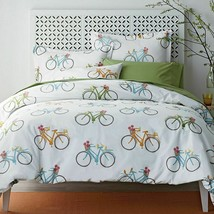 The Company Store Spring Ride Bicycles 4-PC Full/Double Duvet Cover and ... - $73.00