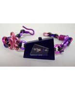 Purple Rhomboid Faced Watch Ladies Bracelet Aluminum Wrist Band Wristwatch - $114.00