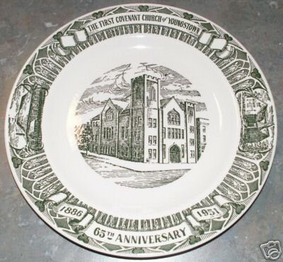 Youngstown, OH 1886-1951 Collectors Plate Church Rare