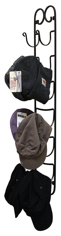 Rack Holder Towel Wine Hat Wall Mount Shelf Hanging Organizer Storage Bathroom