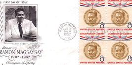 Honoring RAMON MAGSAYSAY 1907-1957 Champion of Liberty of th - $2.95