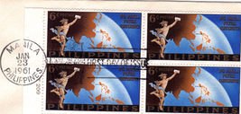 1961 MANILA POSTAL CONFERENCE First Day Issue Philippines - $2.95