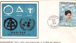 HABITAT First Day Issue 2/ Imelda Romualdez Marcos Stamp Feb - $1.95