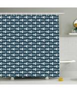 Shower Curtain Seamless Fish Bone Pattern Print 26805 - $34.60