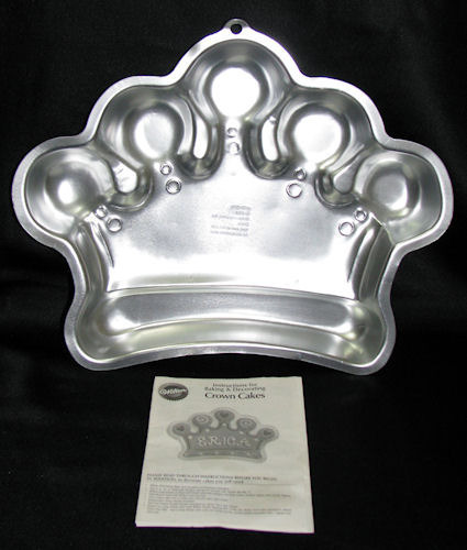 Wilton 2006 Princess Crown Cake Pan w/ Directions