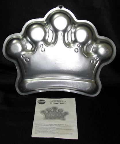 Wilton 2006 Princess Crown Cake Pan w/ Directions