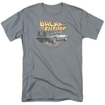 Back To Future Logo T-shirt McFly Delorean 1980s movie retro cotton tee UNI991 image 1