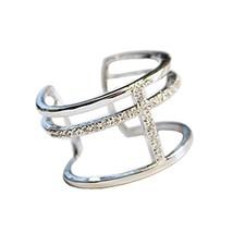 Accessories Concise Style Fashion Simple Wild Unique Clover Diamond Ring Ladies image 2