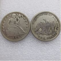 1843 SEATED LIBERTY SILVER DOLLARS - $7.00
