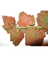 Christmas RED Ivy VTG Millinery Flower Velvet L... - $9.00