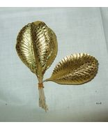 Vtg 50's Gold Foil Metallic Paper Xmas Ornament... - $10.07