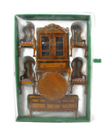 Dollhouse Wooden Miniature Furniture Dining Set of 7  NEW w/ Box - $39.59