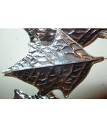 Vintage Silver Foil Paper Leaf Christmas Wreath... - $10.67
