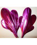 """12 Vintage Pink Foil Paper Leaf Floral Pick 8"""" ... - $11.29"""