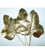 Vintage METALLIC GOLD FOIL Ivy Millinery Flower... - $10.67