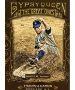 2011 Topps Gypsy Queen The Great Ones Mickey Mantle Yankees - $2.00