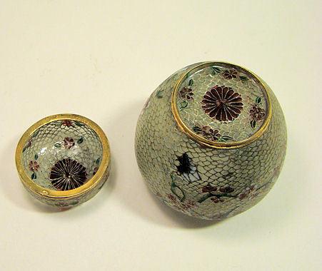 Chinese Cloisone Enamel Plique de Jour Ginger Jar