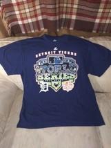 Detroit Tigers Men T Shirt L Majestic 100% Cotton Nicaragua 2012 World S... - $14.94