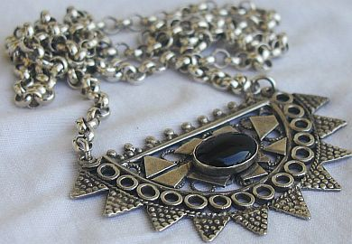 Black moon necklace