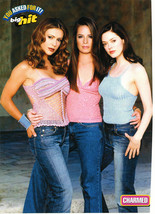 Alyssa Milano Holly Marie Combs teen magazine pinup cliping light colored tops