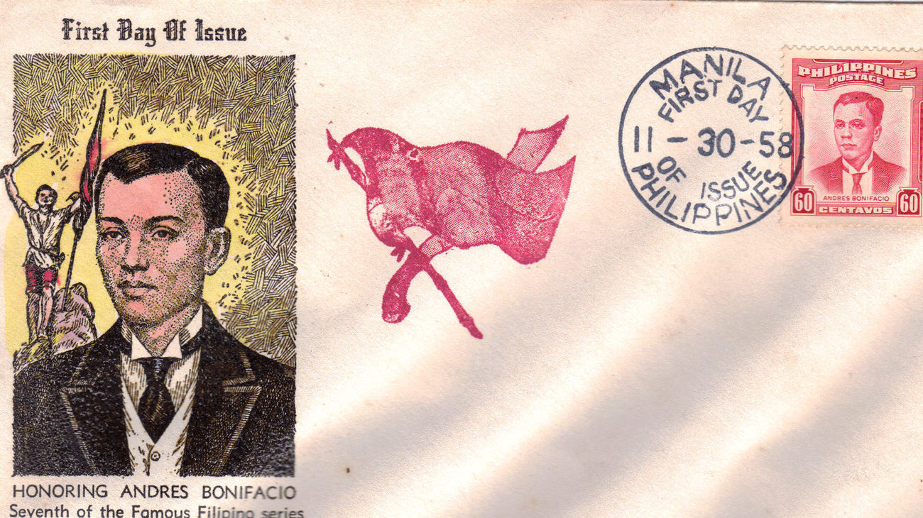 Honoring ANDRES BONIFACIO 1st Day Of Issue 1958