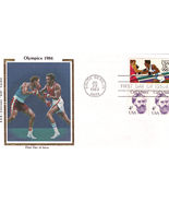 "OLYMPICS 1984 R&R Colorano ""Silk"" Cachet First Day of Issue - $3.95"