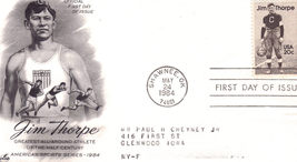 JIM THORPE Official 1st Day of Issue 1984 - $2.95