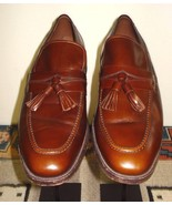 "Men's Allen Edmonds ""Biscayne"" Classic Brown Leather Tassel Loafer Sz. 1... - $59.39"