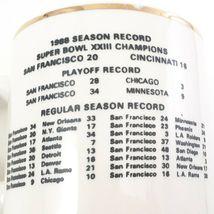 1988 49ers SUPER BOWL XXIII CHAMPIONS COMMEMORATIVE SF Ceramic Mug With Schedule image 7