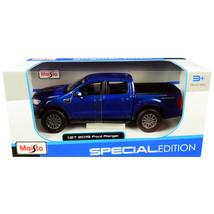 2019 Ford Ranger Lariat Sport Pickup Truck Dark Blue Metallic 1/27 Dieca... - $29.89