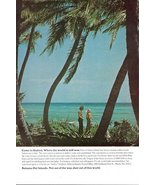 1973 Bahama Andros Islands beach couple lover print ad - $10.00