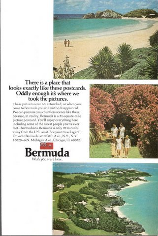 1973 Bermuda holidays vacation travel promo print ad